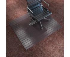 vidaXL Alfombra para silla/Alfombra de protección bambú marrón