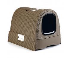 Curver Caja cubierta de arena para gatos 51x38,5x39,5 cm mocca 400461