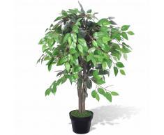 vidaXL Árbol/ Planta de ficus artificial en maceta, 90 cm