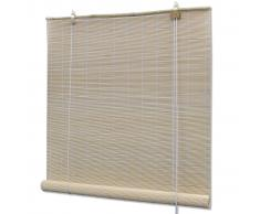 vidaXL Persiana enrollable de bambú color natural 80x220 cm