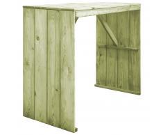 vidaXL Mesa de bar de madera de pino FSC impregnada 130x60x110 cm