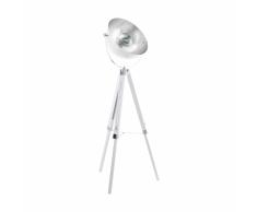 EGLO Lámpara de pie COVALEDA negro y plateado 49877