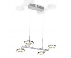vidaXL Lámpara de techo colgante con 4 luces LED redondas