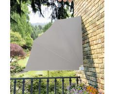 vidaXL Toldo lateral plegable de balcón color crema 140x140 cm