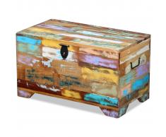 vidaXL Baúl de almacenamiento madera maciza reciclada