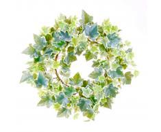 Emerald Corona de hiedra artificial 35 cm verde y blanca 416347