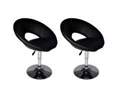 vidaXL Taburete De Bar De Diseño, Color Negro