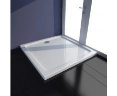 vidaXL Plato de ducha rectangular de ABS, color blanco, 70 x 100 cm