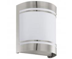 EGLO Lámpara de pared exterior Cerno 40 W plateada 30191