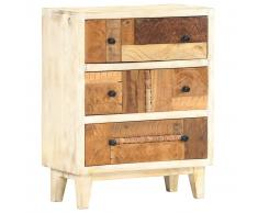 vidaXL Armario auxiliar de madera maciza reciclada 60x30x75 cm