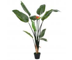 vidaXL Planta strelitzia reginae ave del paraíso artificial 155 cm