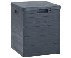 vidaXL Caja de almacenamiento de jardín 90 L gris antracita