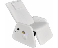 vidaXL Sillón de masaje eléctrico gravedad cero cuero artificial blanco