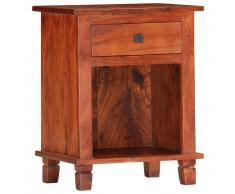 vidaXL Mesita de noche de madera maciza de acacia 40x30x50 cm