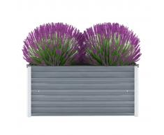 vidaXL Jardinera de jardín de acero galvanizado 100x40x45 cm gris