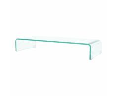 vidaXL Soporte para TV/Elevador monitor cristal claro 80x30x13 cm
