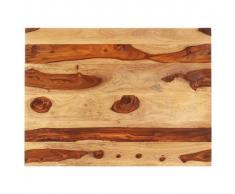 vidaXL Superficie de mesa madera maciza de sheesham 25-27 mm 70x80 cm