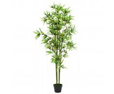 vidaXL Planta de bambú artificial con maceta 175 cm verde