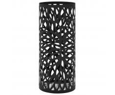 vidaXL Paragüero diseño de hojas acero negro