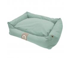 Overseas Cama para perro lona 90x70x22 cm azul hielo