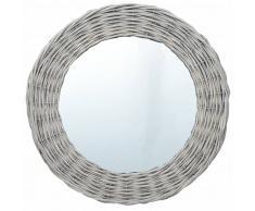 vidaXL Espejo de mimbre 40 cm