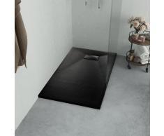 vidaXL Plato de ducha SMC negro 100x70 cm