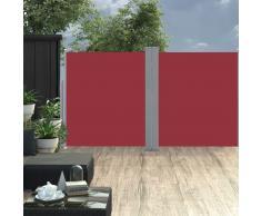 vidaXL Toldo lateral retráctil rojo 170x600 cm