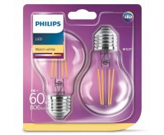 Philips Bombillas LED 2 unidades Classic 7 W 806 lúmenes 929001387371