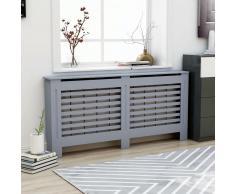 vidaXL Cubierta para radiador MDF gris antracita 172x19x81 cm