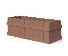 vidaXL Jardinera WPC 70x25x25 cm marrón