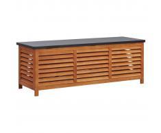 vidaXL Caja de almacenaje jardín madera maciza eucalipto 150x50x55 cm