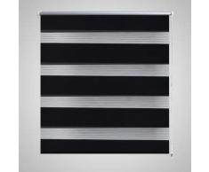 vidaXL Persiana Cebra 50 x 100 cm Negro