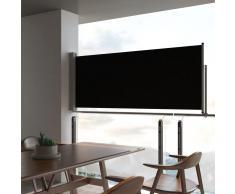 vidaXL Toldo lateral retráctil para patio 100x300 cm negro