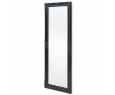 vidaXL Espejo de pared estilo barroco 140x50 cm negro