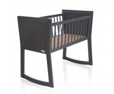 Baninni Cuna para bebés Nocchio 40x90 cm gris oscuro BNBT001-DGY