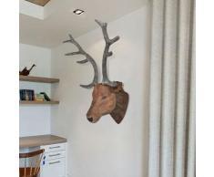 vidaXL Cabeza de ciervo para decoración de pared apariencia natural