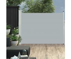vidaXL Toldo lateral retráctil de jardín gris 120x500 cm