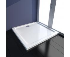 vidaXL Plato de ducha rectangular ABS 90x90 cm