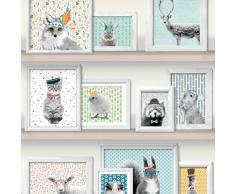 DUTCH WALLCOVERINGS Papel de pared fotos animales multicolor L325-01