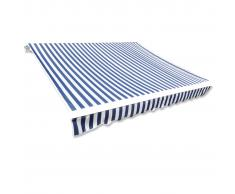 vidaXL Parte Superior Toldo De Lona Azul & Blanco 6X3M Marco No Incluido