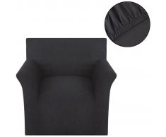 vidaXL funda elástica para sofá de algodón jersey color antracita