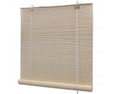 vidaXL Persiana enrollable de bambú color natural 150x160 cm