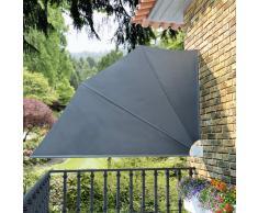 vidaXL Toldo lateral plegable para el patio 160 x 240 cm, gris