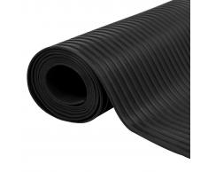 vidaXL Alfombrilla de goma antideslizante 1,5x2 m 3 mm acanalado ancho