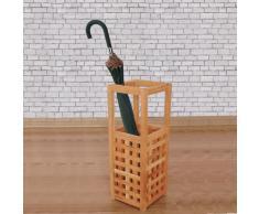 vidaXL Paragüero 18x18x50 cm madera maciza de nogal