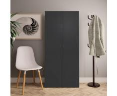 vidaXL Mueble zapatero de aglomerado gris 80x35,5x180 cm