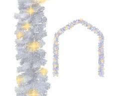 vidaXL Guirnalda de Navidad con luces LED blanco 20 m