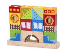 Wonderworld Bloques de construcción de madera HOUT192410