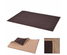 vidaXL Manta de picnic beige y marrón 100x150 cm