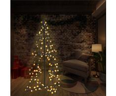 vidaXL Cono árbol de Navidad de 160 LED interior y exterior 78x120 cm